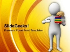 Human Brain Can Store Maximum Knowledge PowerPoint Templates Ppt Backgrounds For Slides 0613