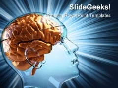 Human Brain Medical PowerPoint Templates And PowerPoint Backgrounds 0411