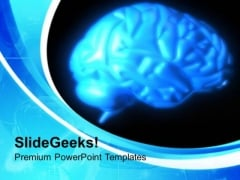 Human Brain Medical Theme PowerPoint Templates Ppt Backgrounds For Slides 0413