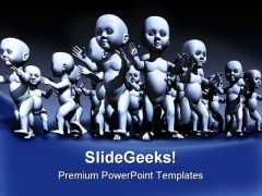 Human Cloning Medical PowerPoint Templates And PowerPoint Backgrounds 0111