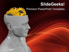 Human Gearhead Industrial PowerPoint Templates And PowerPoint Backgrounds 0511