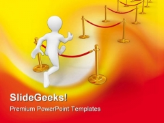 Hurdling Success PowerPoint Themes And PowerPoint Slides 0211