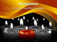 I Am Different Red Candle Holidays PowerPoint Templates And PowerPoint Backgrounds 0311