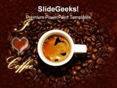 I Love Coffee Food PowerPoint Backgrounds And Templates 0111