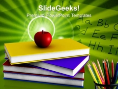 I Love School Education PowerPoint Templates And PowerPoint Themes 1012