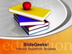 I Love School Food Books Apple PowerPoint Templates Ppt Backgrounds For Slides 0213