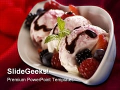 Ice Cream Food PowerPoint Template 0810