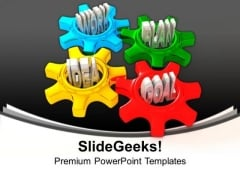 Idea Work Plan And Goal In Gears Business PowerPoint Templates And PowerPoint Themes 1112
