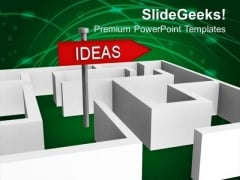 Ideas For Business Growth In Labyrinth PowerPoint Templates Ppt Backgrounds For Slides 0313