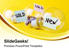 Ideas For Sale Business PowerPoint Templates And PowerPoint Backgrounds 0611