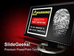 Identification Theft Alert Security PowerPoint Backgrounds And Templates 1210