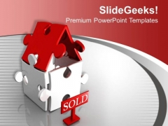 Iillustration Of Sold Out House PowerPoint Templates Ppt Backgrounds For Slides 1212