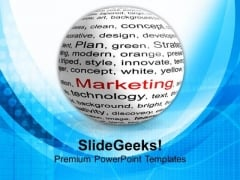 Illustration Of Blog Marketing PowerPoint Templates Ppt Backgrounds For Slides 0713