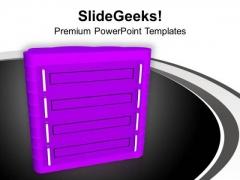Illustration Of Computer Server PowerPoint Templates Ppt Backgrounds For Slides 0713