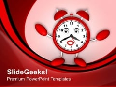 Illustration Of Funny Clock For Reminder PowerPoint Templates Ppt Backgrounds For Slides 0413