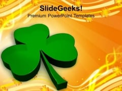 Illustration Of Glossy Clover Holiday PowerPoint Templates Ppt Backgrounds For Slides 0313