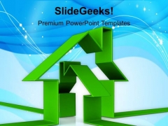 Illustration Of Green House PowerPoint Templates Ppt Backgrounds For Slides 1212