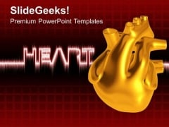 Illustration Of Heart Medical Theme PowerPoint Templates Ppt Backgrounds For Slides 0513