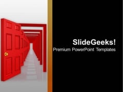 Illustration Of Open Doors PowerPoint Templates Ppt Backgrounds For Slides 0713
