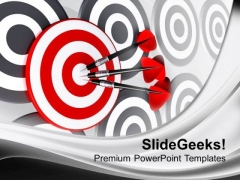 Illustration Of Right Target Concept PowerPoint Templates Ppt Backgrounds For Slides 0413