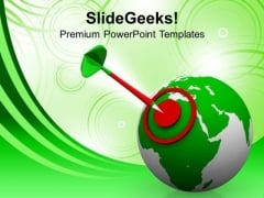 Illustration Of World Target Icon PowerPoint Templates Ppt Backgrounds For Slides 0213