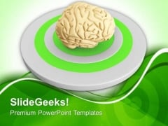 Image Of A Brain Over Target PowerPoint Templates Ppt Backgrounds For Slides 0713