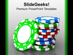 Image Of Casino Gambling Chips PowerPoint Templates Ppt Backgrounds For Slides 0213