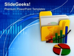 Image Of Folder And Charts PowerPoint Templates Ppt Backgrounds For Slides 0713