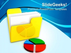 Image Of Folder With Pie Chart PowerPoint Templates Ppt Backgrounds For Slides 0713