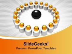 Image Of Golden Balls In Circle PowerPoint Templates Ppt Backgrounds For Slides 0213