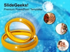 Image Of Golden Wedding Rings PowerPoint Templates Ppt Backgrounds For Slides 0213