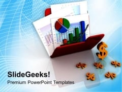 Image Of Graph And Chart In Folder PowerPoint Templates Ppt Backgrounds For Slides 0713