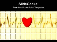 Image Of Heart Beat With A Heart PowerPoint Templates Ppt Backgrounds For Slides 0113