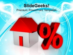 Image Of House And Percent Symbol PowerPoint Templates Ppt Backgrounds For Slides 0113