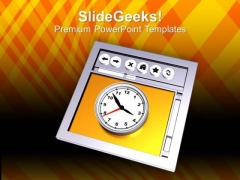 Image Of Internet Browser And Clock PowerPoint Templates Ppt Backgrounds For Slides 0113