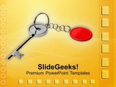 Image Of Key Chain Protection PowerPoint Templates Ppt Backgrounds For Slides 0113