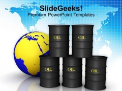 Image Of Oil Trading Concept PowerPoint Templates Ppt Backgrounds For Slides 0213