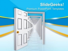 Image Of Opened Doors For Opportunities PowerPoint Templates Ppt Backgrounds For Slides 0713