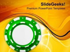 Image Of Poker Chip Winner PowerPoint Templates Ppt Backgrounds For Slides 0713