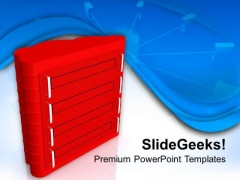 Image Of Red Computer Server PowerPoint Templates Ppt Backgrounds For Slides 0713