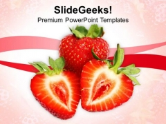 Image Of Red Strawberry Fruit PowerPoint Templates Ppt Backgrounds For Slides 0213