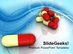 Image Of Red Yellow Capsules PowerPoint Templates Ppt Backgrounds For Slides 0713
