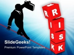 Image Of Risk Concept With Red Cubes PowerPoint Templates Ppt Backgrounds For Slides 0213