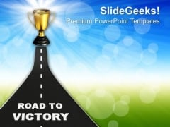 Image Of Road To Victory PowerPoint Templates Ppt Backgrounds For Slides 0213