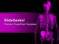 Image Of Skeleton In Pink Color PowerPoint Templates Ppt Backgrounds For Slides 0713