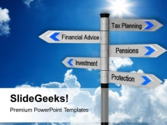 Image Of Tax Planning Finance Signpost PowerPoint Templates Ppt Backgrounds For Slides 0213