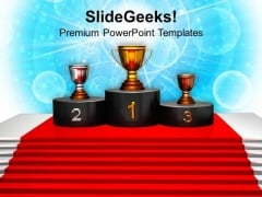 Image Of Winner Podium PowerPoint Templates Ppt Backgrounds For Slides 0213
