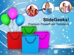 Image Of Women With Shopping Bags PowerPoint Templates Ppt Backgrounds For Slides 0713