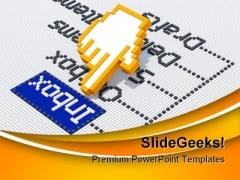 Inbox Emails Internet PowerPoint Templates And PowerPoint Backgrounds 0211