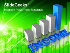 Income Bar Chart Business Plan PowerPoint Templates Ppt Backgrounds For Slides 0313